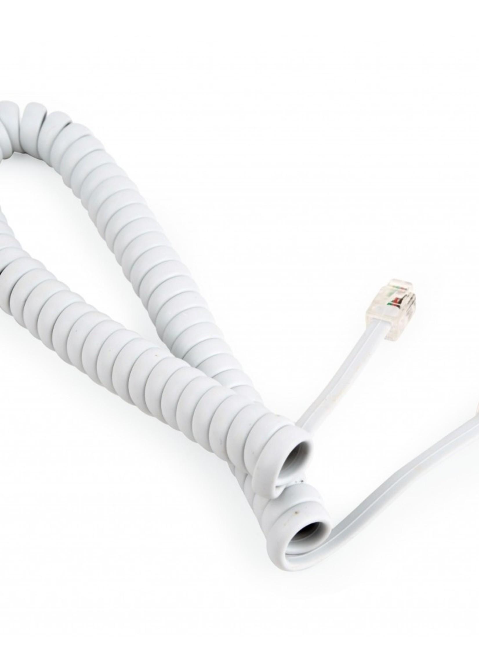 CableXpert Telefoon spiraalkabel 4P4C/RJ10 wit 2 meter