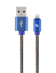 CableXpert 8-Pin kabel Denim Blue Jeans 2 meter