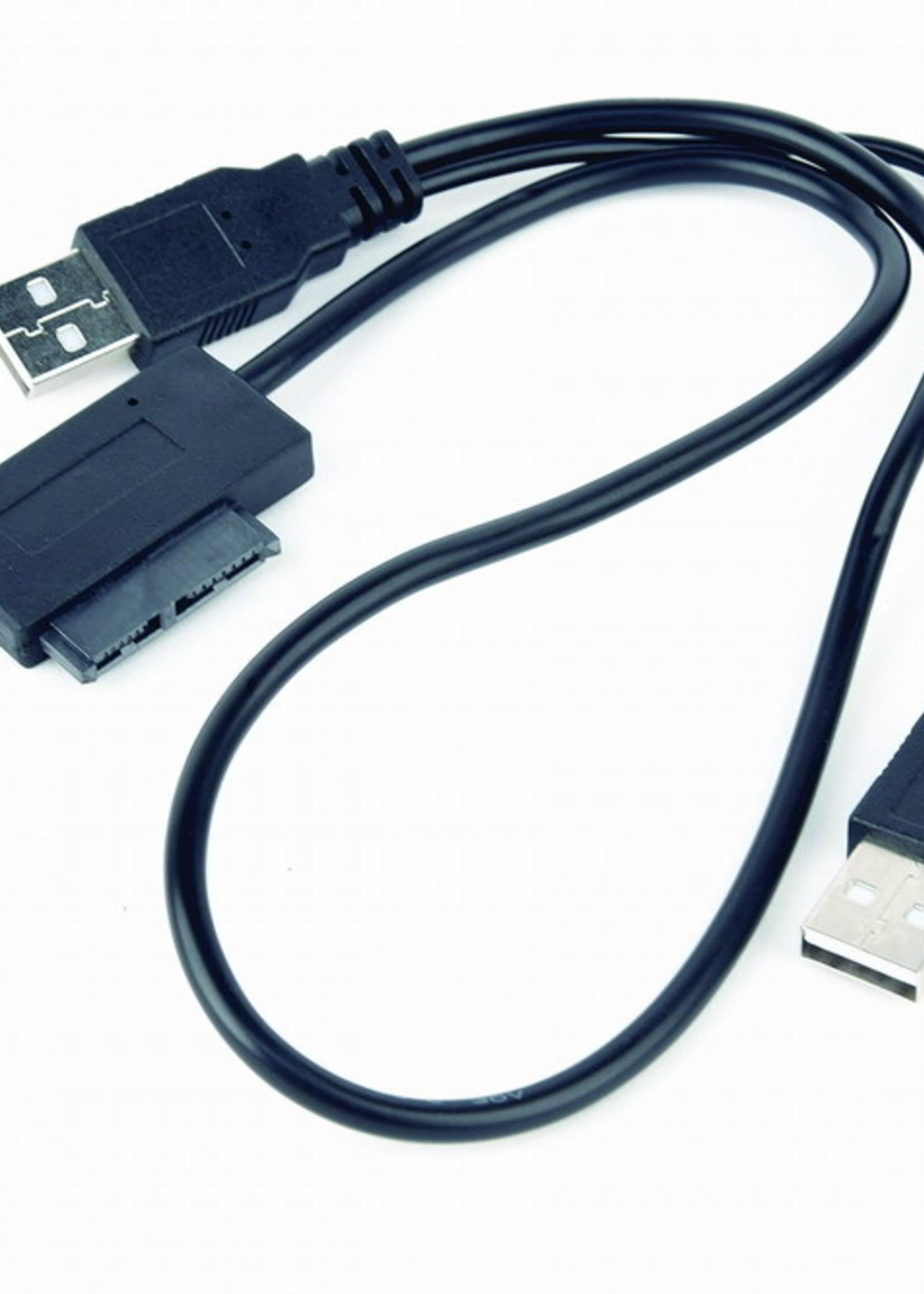 CableXpert Externe USB naar SATA adapter voor Slim SATA SSD of DVD