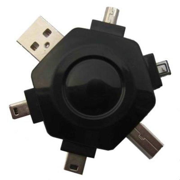 CableXpert Universele USB adapter met verschillende types USB-aansluitingen (AM-BM-mini 8pin/5pin/4pin-1394)