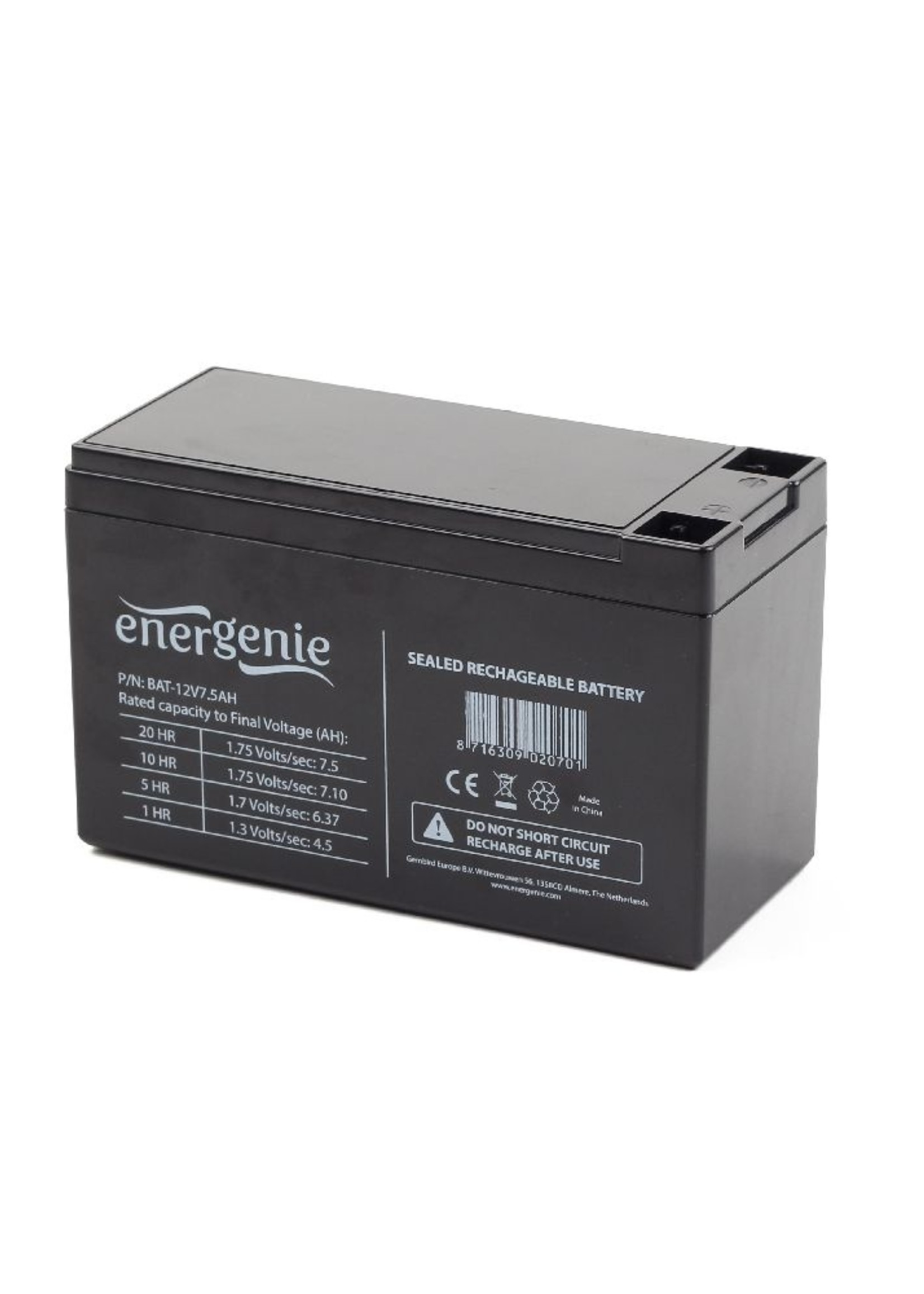 EnerGenie Batterij voor UPS 12V 7.5AH