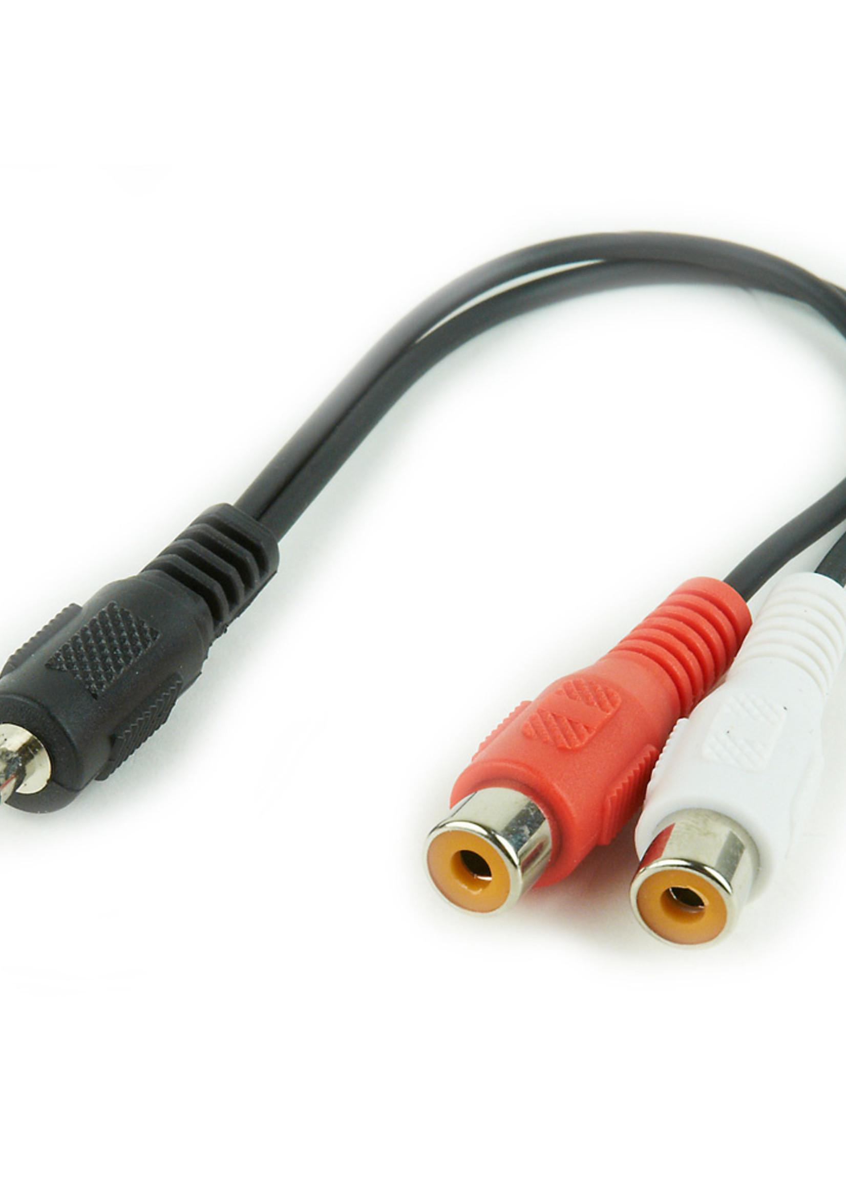 CableXpert 3.5 mm naar RCA audio-adapterkabel, 0.2 meter