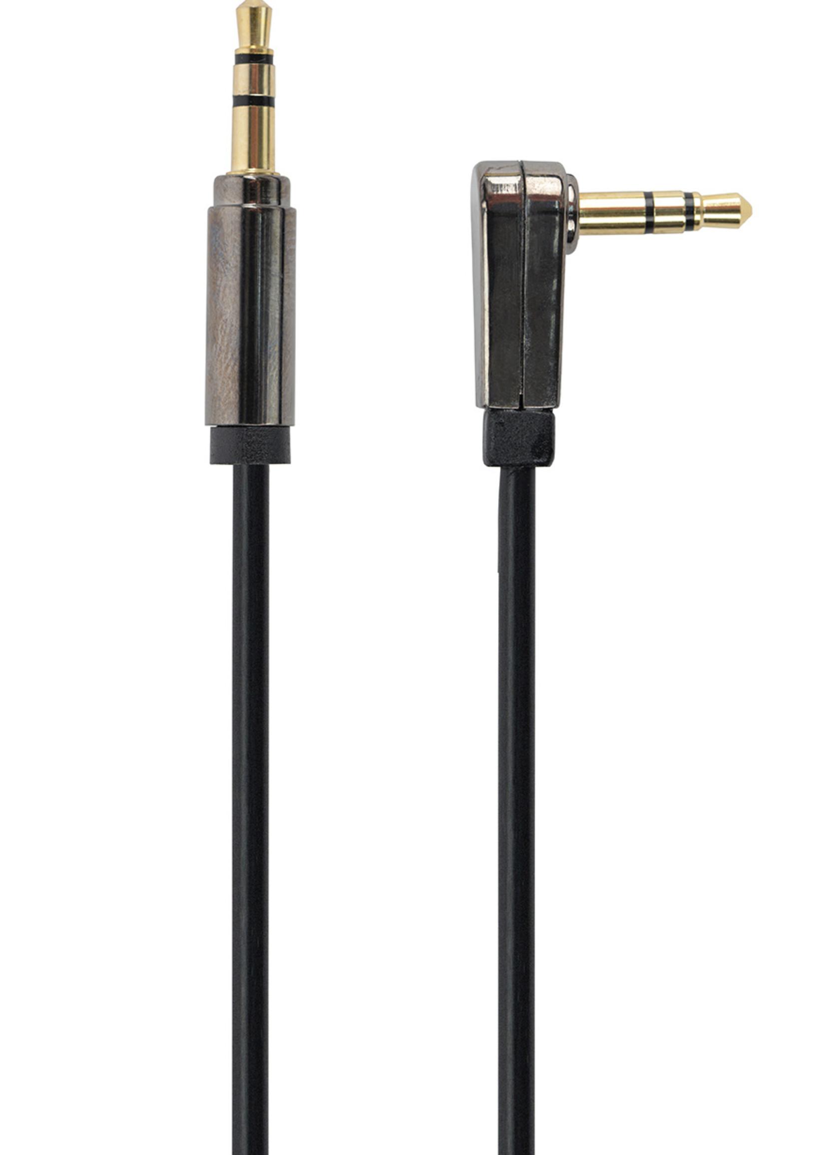 CableXpert 3.5 mm stereo audiokabel met haakse stekker, 1 meter