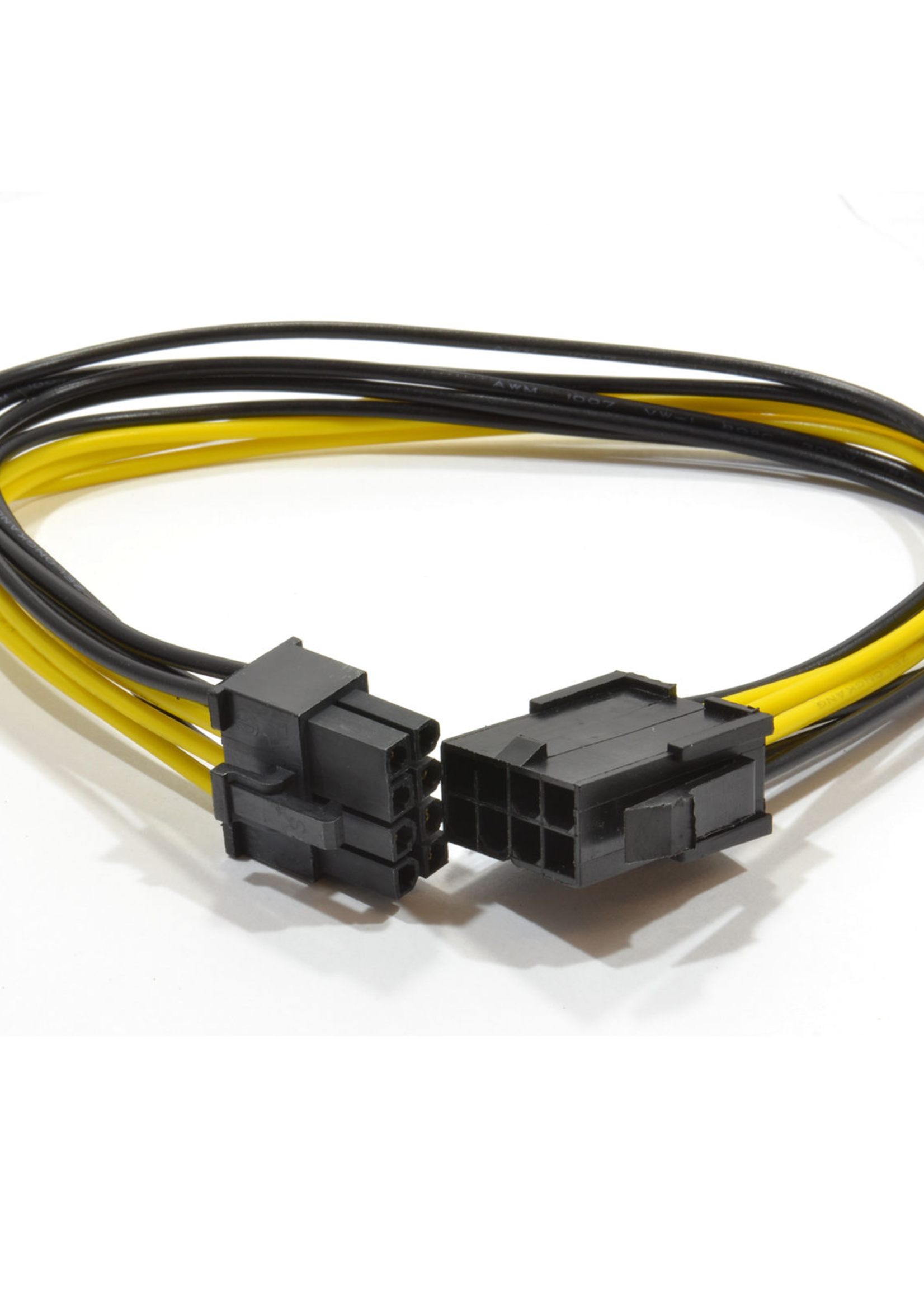 CableXpert Interne 6+2 pins voedings-verlengkabel voor PCI express, 0,3 m