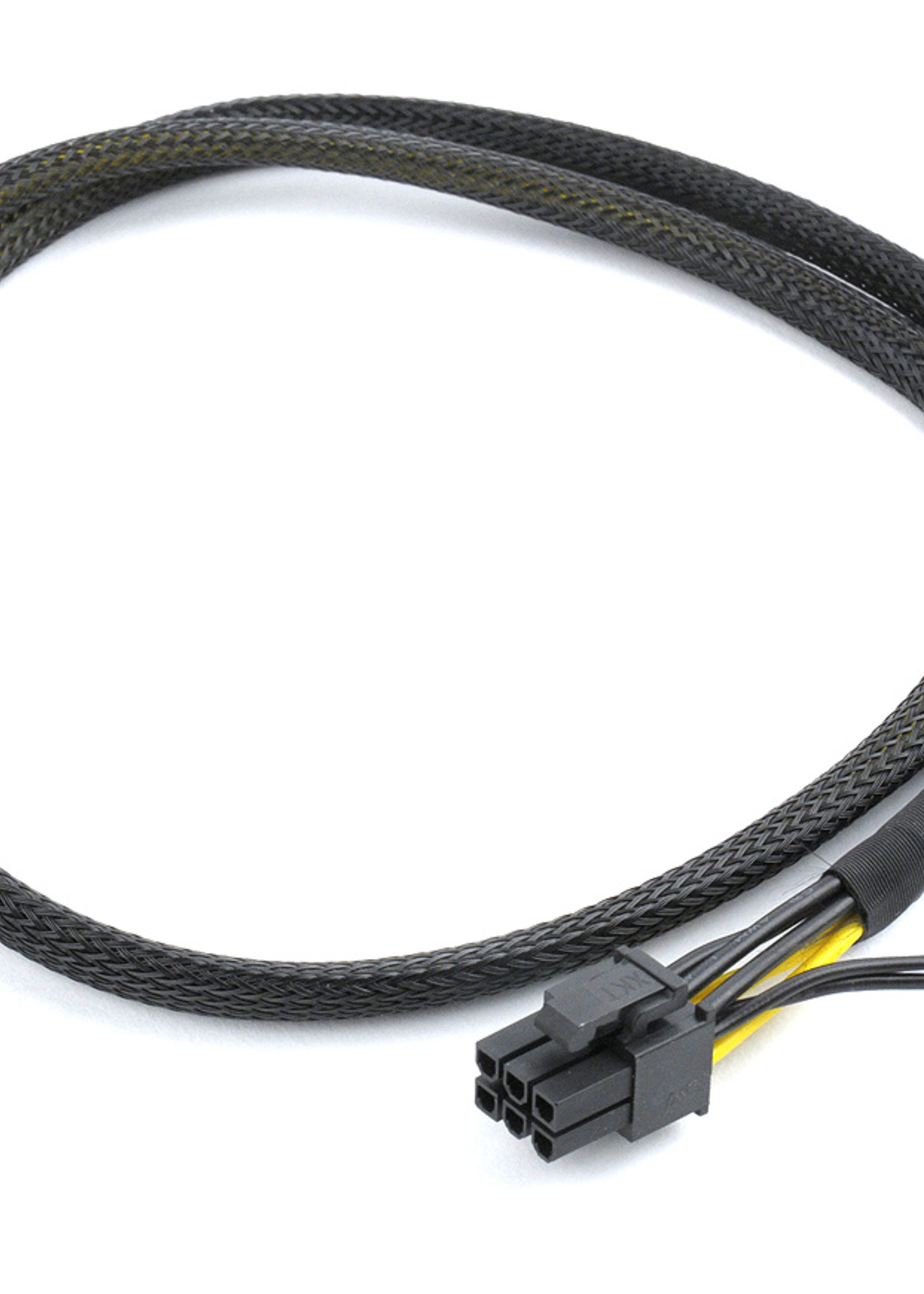 CableXpert PCI-Express 6-pin male to 6+2 pin male power cable, 0.8 m, mesh jacket