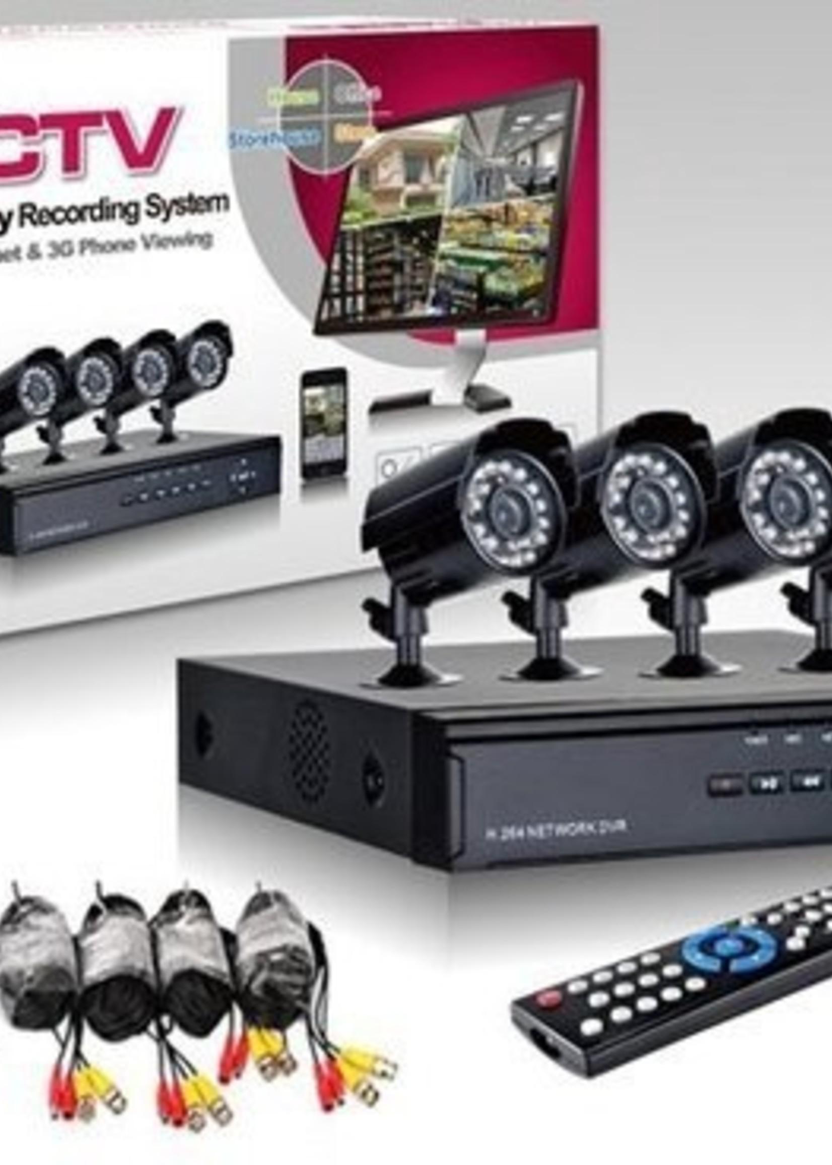 CCTV Camersysteem met 4 camera's & dvr