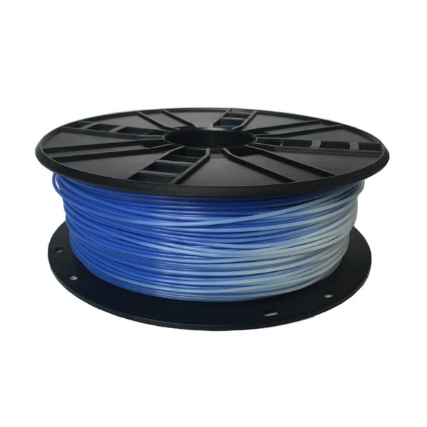 Gembird3 PLA Blauw naar Wit 1.75 mm, 1 kg