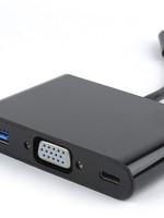 CableXpert USB-C 3-in-1 VGA + USB3 + laden adapter