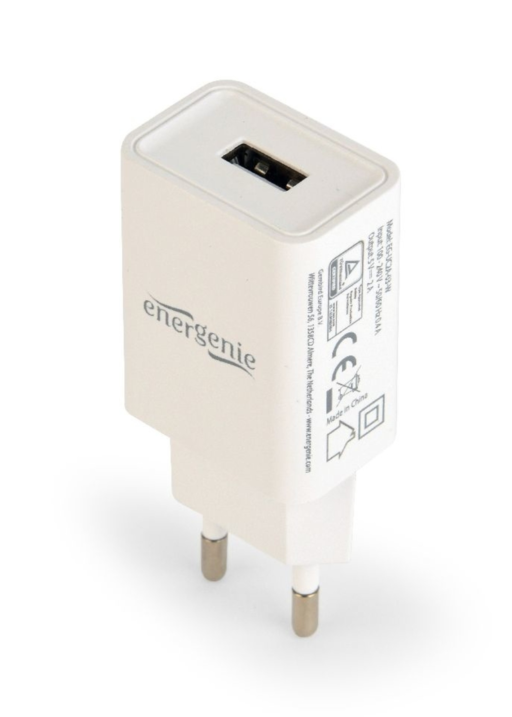 EnerGenie Universele USB lader, 2.1 A, wit