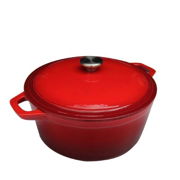 Braadpan Gietijzer Rood 24 cm
