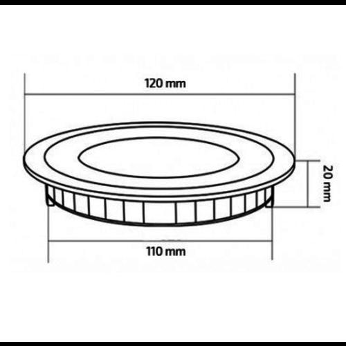 LED paneel 6W rond inbouw
