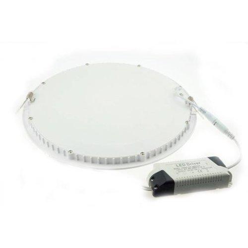 LED paneel rond inbouw 24W