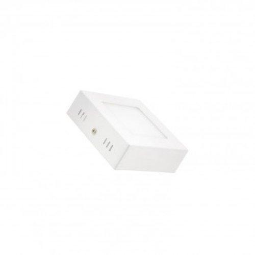 Kleine plafondlamp vierkant 6W LED wit