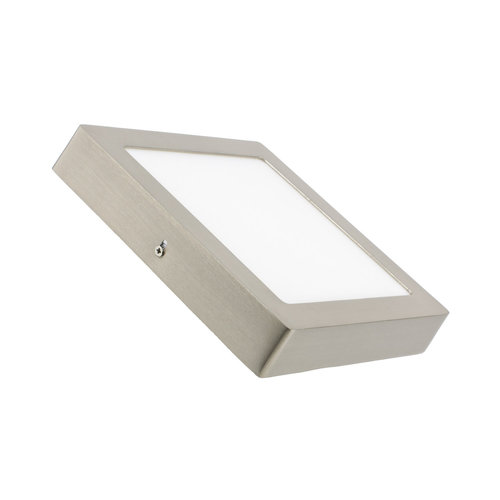 Grijze plafondlamp LED 18W vierkant