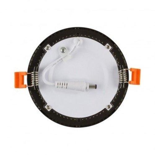LED paneel inbouw rond 6W zwart dimbaar