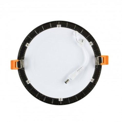 LED verlichting plafond inbouw 18W rond zwart 205mm zaagmaat