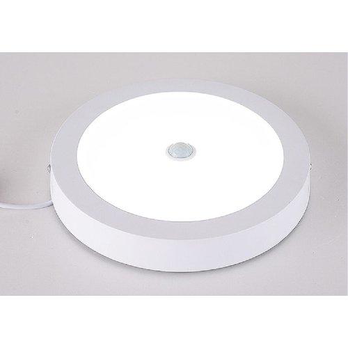 Plafondlamp met bewegingssensor  12W rond opbouw