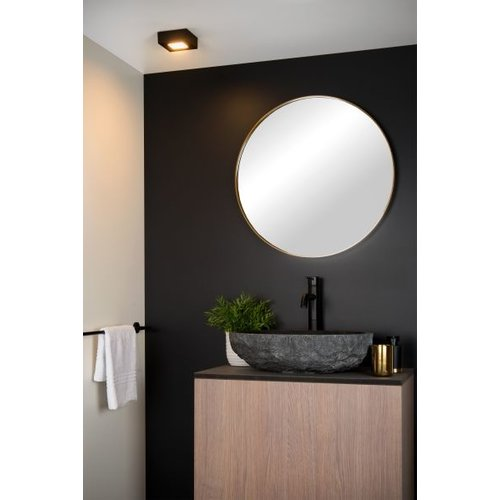 Badkamerlamp vierkant 8W LED wit of zwart dimbaar IP44