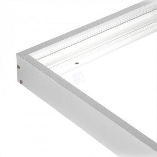 Alu kader voor LED paneel 60x60 cm wit of grijs
