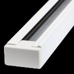 Spanningsrail 1 fase wit of zwart 1m