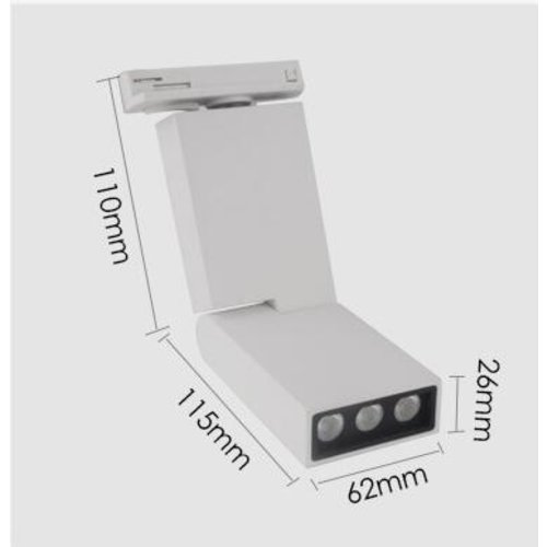 Railverlichting woonkamer LED 6W zwart of wit