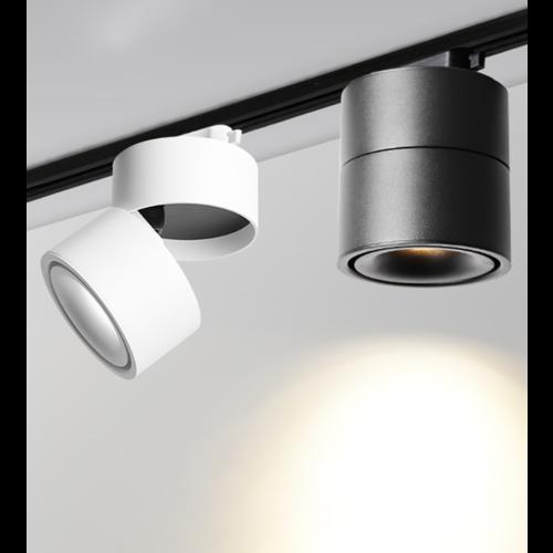Verlichting rail spot LED 9W wit of zwart dimbaar