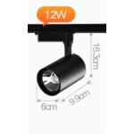 Plafondspot rail LED 12W wit of zwart