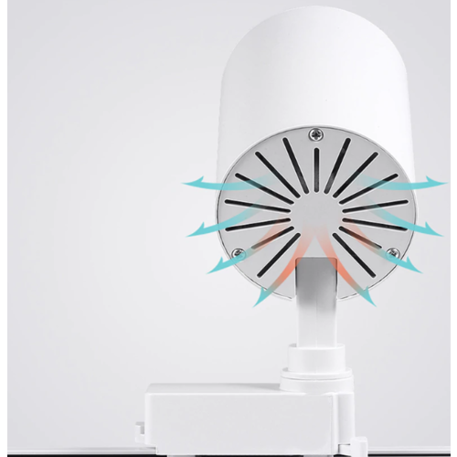 LED railspot wit of zwart 20W 1 fase