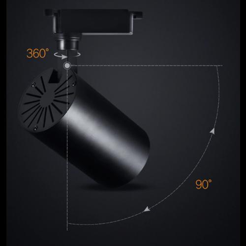 Spot railverlichting LED 30W zwart of wit 1 fase