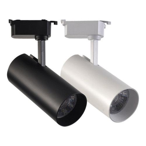 Winkelspot  op rail LED 35W wit of zwart dimbaar 1 fase of 3 fasen