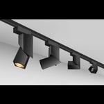 Railsysteem spot LED 7W 1 fase wit of zwart
