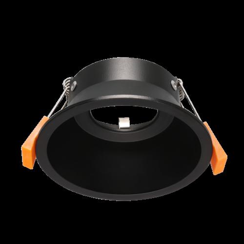 Verzonken inbouwspot zwart 110mm diameter GU10