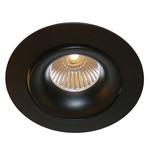 Inbouwspot GU10 zwart 230V 110mm diameter