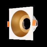 Spot goud met wit GU10 100mm diameter