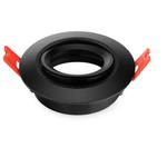 Inbouwspot armatuur zwart GU10 zaagmaat 70mm