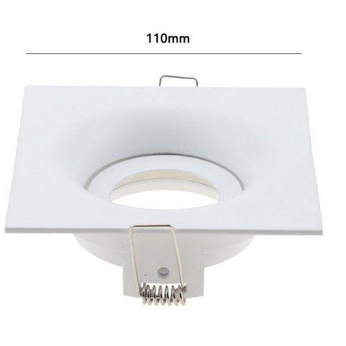 Inbouwspot vierkant wit design GU10 wit zaagmaat 90mm