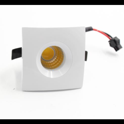 Mini inbouw LED spot 3W vierkant wit zaagmaat 36mm