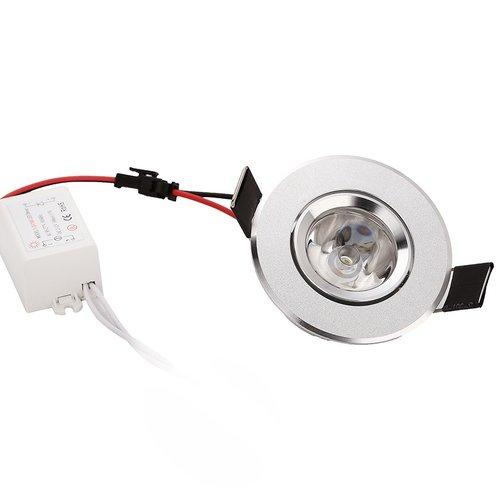 LED inbouwspot 3W grijs zaagmaat 60mm richtbaar