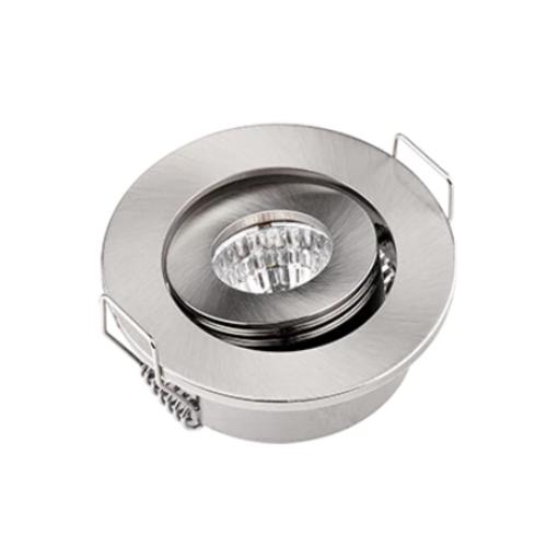 Lage inbouwspot richtbaar 3W LED wit zaagmaat 45mm