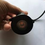 Mini inbouwspot 230V zwart dimbaar zonder trafo IP67
