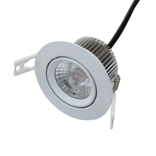 Inbouwspot LED badkamer IP44 zonder trafo 7W 230V wit of grijs