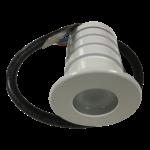 Mini spot 230V inbouw 3WIP67  wit dimbaar ingebouwde trafo