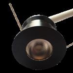 LED spot 30mm zaagmaat zwart 4W dimbaar rond
