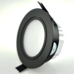 Inbouwspot zwart rond richtbaar 5W zaagmaat 70mm ondiep
