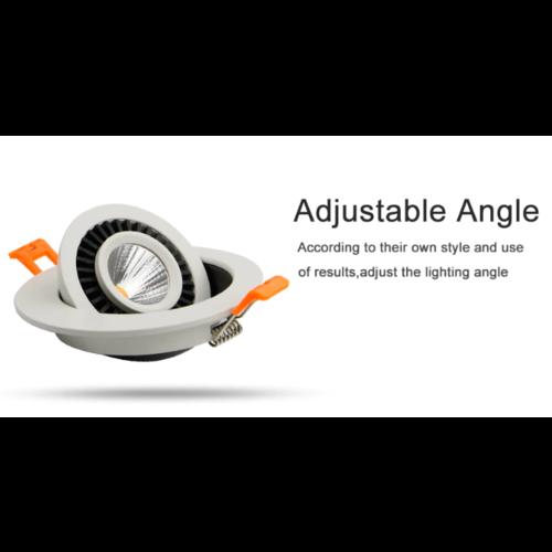 Inbouwspot boorgat 60mm 5W LED wit of zwart 30mm hoog
