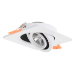Inbouwspot zaagmaat 60mm vierkant LED 5W wit of zwart 25mm hoog