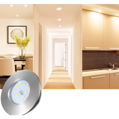 Inbouwspot badkamer LED IP44 ondiep wit of grijs 5W 230V