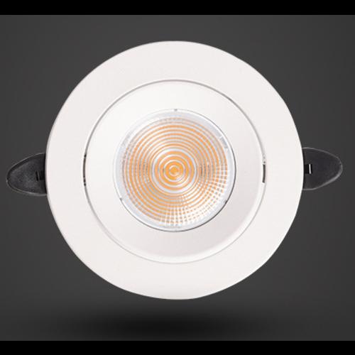 Ondiepe LED inbouwspot 5W zaagmaat 80mm wit richtbaar 230V