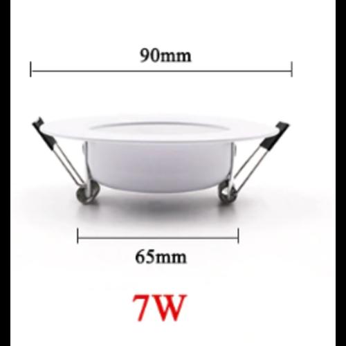 Inbouwspot zaagmaat 65 mm 7W LED 30mm hoog dimbaar