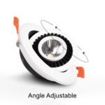 LED spot lage inbouwdiepte 7W richtbaar zaagmaat 75mm wit of zwart